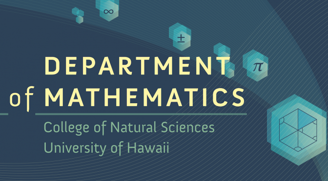 department of mathematics banner outlined